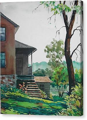 Sunlit Steps Canvas Print by Faye Ziegler
