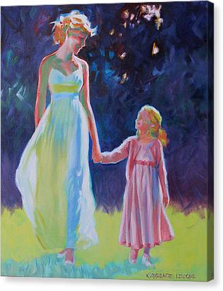 Sunlit Walk Canvas Print by Kevin Lawrence Leveque