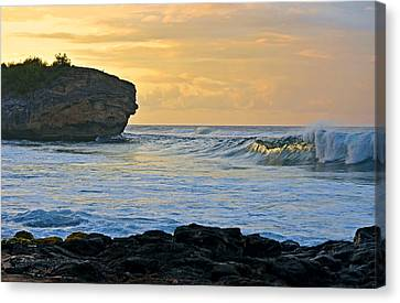 Sunlit Waves - Kauai Dawn Canvas Print