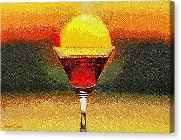 Sunned Wine - Da Canvas Print