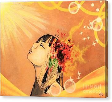 Sunning Canvas Print