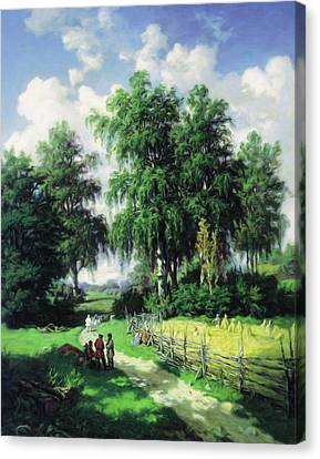 Sunny Afternoon In The Meadows Canvas Print