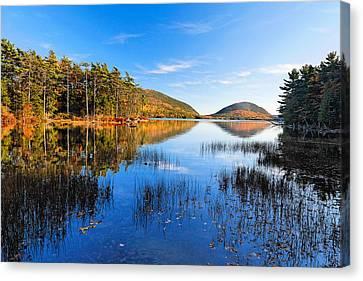 Sunny Autumn Day At Eagle Lake  Canvas Print