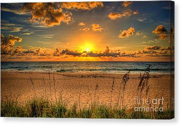 Sunny Beach To Warm Your Heart Canvas Print by Rod Jellison