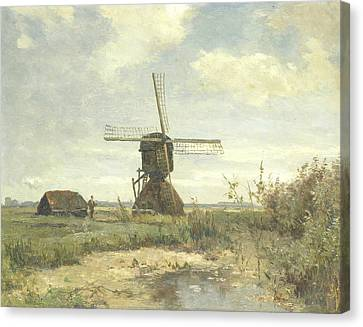 Sunny Day - A Mill To A Watercourse Canvas Print by Paul Gabriel