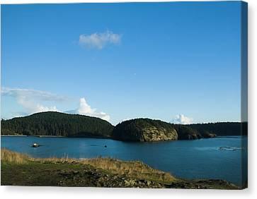 Canvas Print featuring the photograph Sunny Day At Bowman Bay Park by Yulia Kazansky
