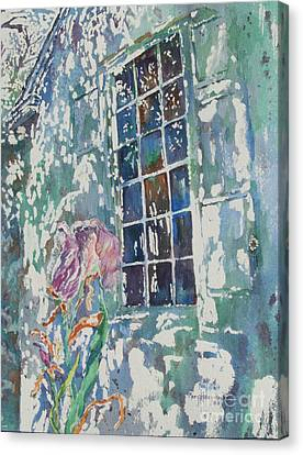 Canvas Print featuring the painting Sunny Day At Brandywine by Mary Haley-Rocks