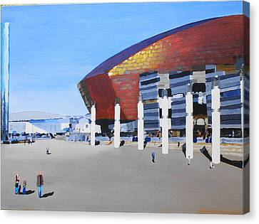 Sunny Day At Cardiff Bay Canvas Print