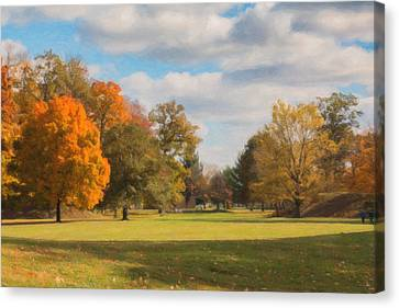 Sunny Day In Autumn Canvas Print by Tom Mc Nemar