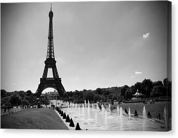The Eiffel Tower Canvas Print - Sunny Day In Paris by Kamil Swiatek