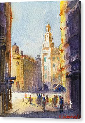 Sunny Day Canvas Print by Kristina Vardazaryan