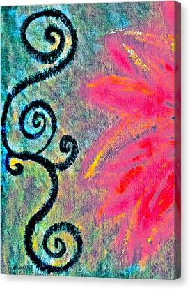 Sunny Day Pink Canvas Print by Gwyn Newcombe