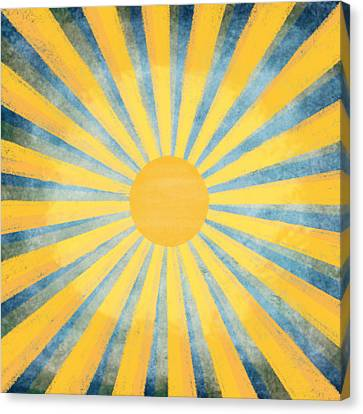 Sticky Note Canvas Print - Sunny Day by Setsiri Silapasuwanchai