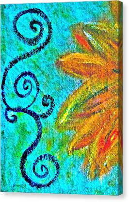 Sunny Day Yellow Canvas Print by Gwyn Newcombe