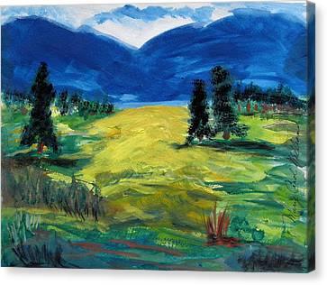 Sunny Field Canvas Print by Mary Carol Williams