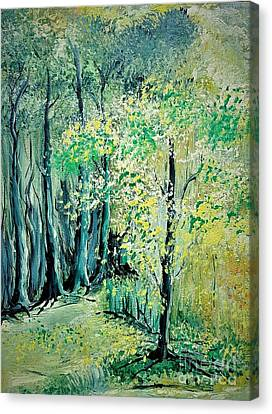 Sunny Forest Canvas Print