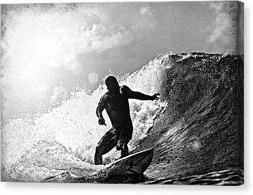 Sunny Garcia In Black And White Canvas Print by Paul Topp