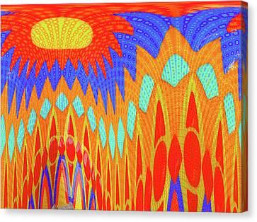 Sunny Garden Canvas Print by Ann Johndro-Collins