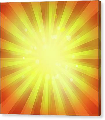 Sun Rays Canvas Print - Sunny Rays by Les Cunliffe