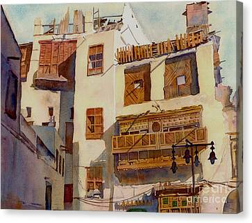 Sunny Shutters Arabia Canvas Print by Dorothy Boyer