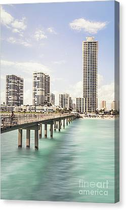 Miami Canvas Print - Sunny Side Of Life by Evelina Kremsdorf
