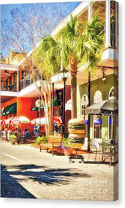 Sunny Side Of The Street Canvas Print by Mel Steinhauer