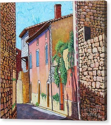 Sunny Side Of The Street Canvas Print by Pamela Iris Harden