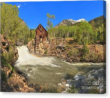 Crystal Colorado Canvas Print - Sunny Skies Over The Crystal Mill by Adam Jewell