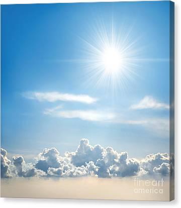 Sunny Sky Canvas Print by Carlos Caetano