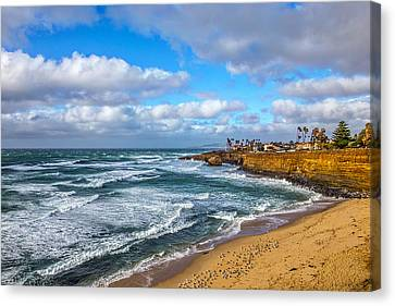 Sunny Sunset Cliffs Canvas Print by Peter Tellone