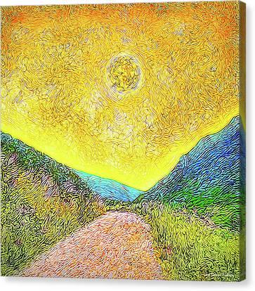 Canvas Print featuring the digital art Sunny Trail - Marin California by Joel Bruce Wallach