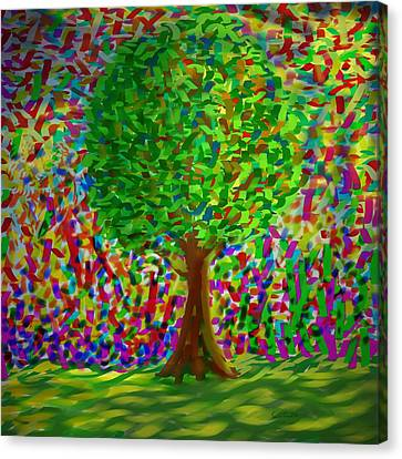 Sunny Tree Canvas Print by Kevin Caudill