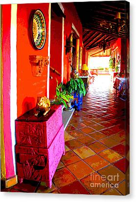 Sunny Veranda By Darian Day Canvas Print by Mexicolors Art Photography