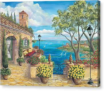 Sunny Villa Canvas Print by Cheryl Hamilton