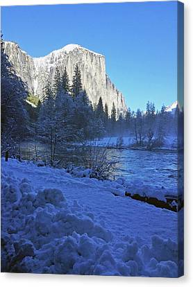 Canvas Print featuring the photograph Sunny Winter Day 01 13 17 by Walter Fahmy
