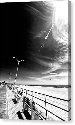Canvas Print - Sunrays Over The Boardwalk by John Rizzuto