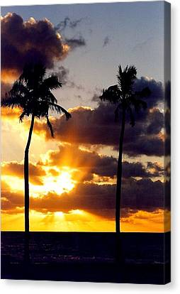 Canvas Print featuring the photograph Sunrise-23 by Denise Moore