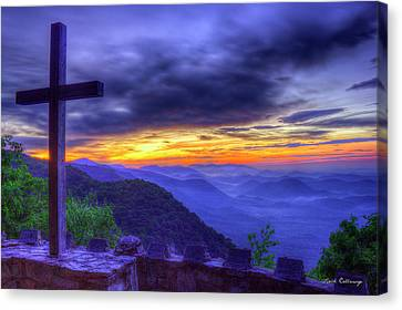 Sunrise And The Cross Pretty Place Chapel Art Canvas Print