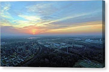 Sunrise At 400 Agl Canvas Print by Dave Luebbert