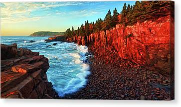 Rocky Maine Coast Canvas Print - Sunrise At Acadia by ABeautifulSky Photography by Bill Caldwell