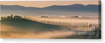 Italian Landscapes Canvas Print - Sunrise At Agriturismo Poggio Covili by Henk Meijer Photography