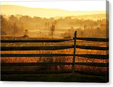 Sunrise At Antietam Canvas Print by Brian M Lumley