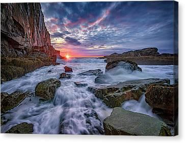 Sunrise At Bald Head Cliff Canvas Print