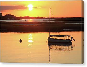 Sunrise At Bass River Canvas Print by Roupen  Baker