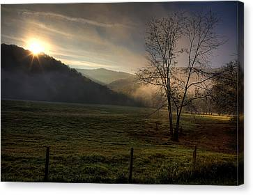 Canvas Print featuring the photograph Sunrise At Big Hollow by Michael Dougherty