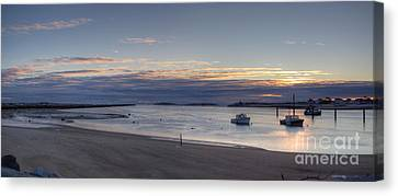 Canvas Print featuring the photograph Sunrise At Camp Ellis by David Bishop