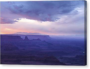 Canvas Print featuring the photograph Sunrise At Canyonlands by Marie Leslie