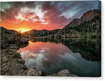 Sunrise At Cecret Lake Canvas Print