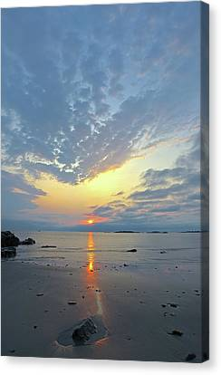 Sunrise At Cohasset Sandy Beach Canvas Print