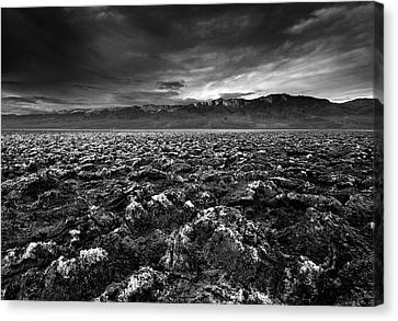 Sunrise At Devil's Golf Course, Death Valley, Deat Canvas Print by David Kiene